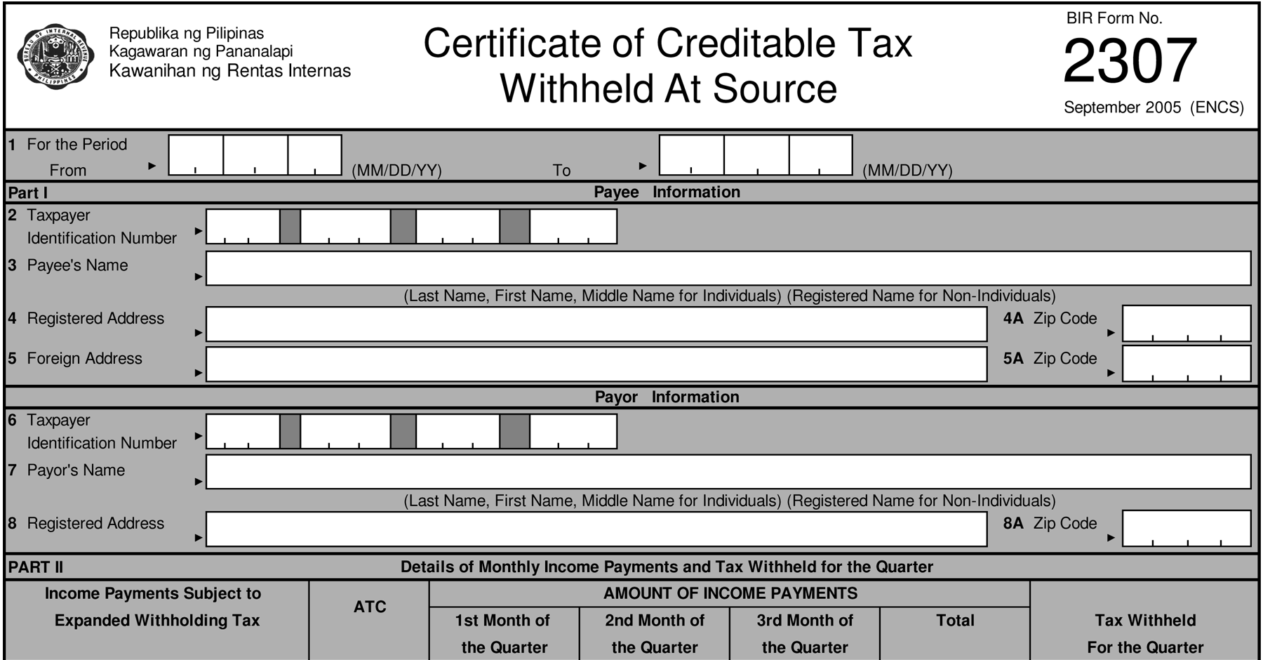 How to Generate BIR Form 2307 | Form 2306